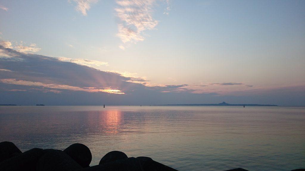 本部港の夕焼け2