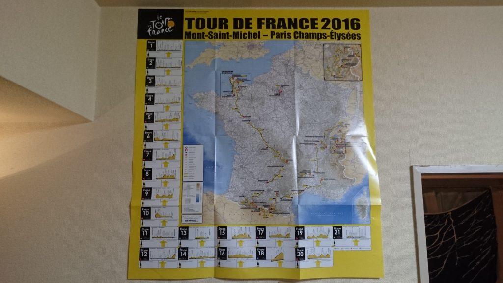 ツールドフランス2016特大ルートマップ