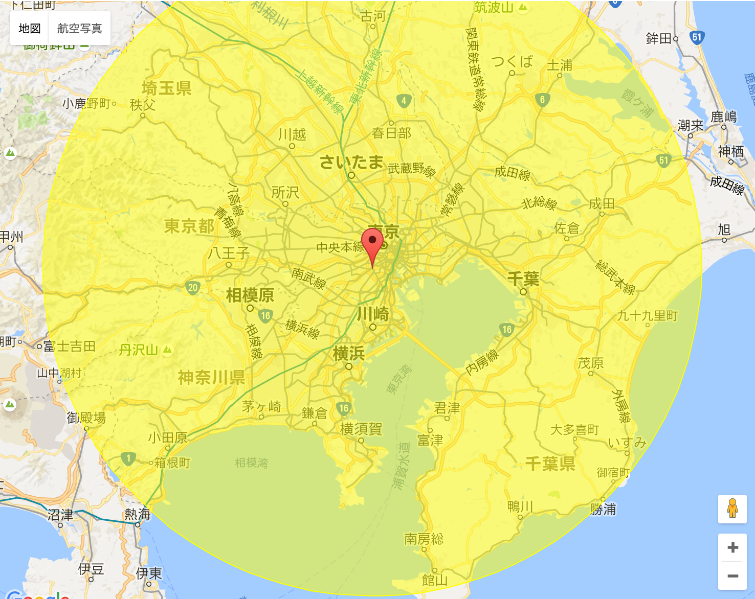 渋谷80km